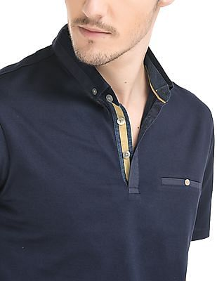 True Blue Button Down Regular Fit Polo Shirt