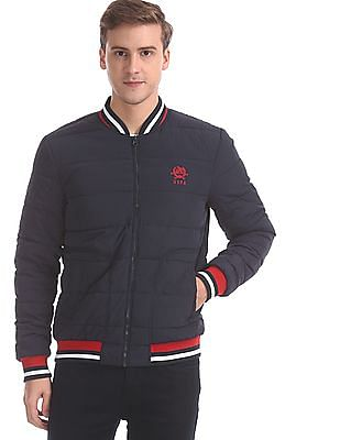 U.S. Polo Assn. Blue Quilted Bomber Jacket