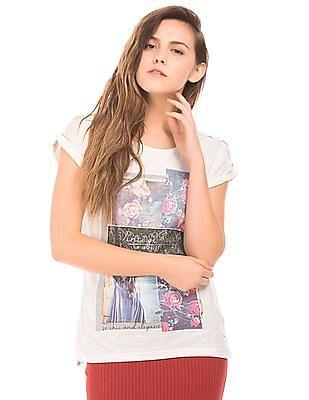 Elle Printed Slub Knit Top