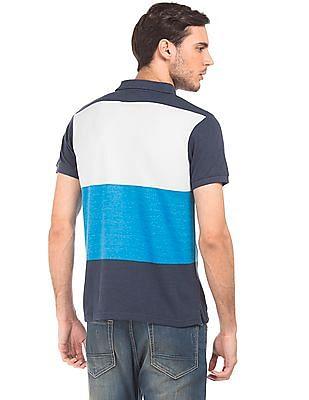 Ruggers Colour Block Pique Polo Shirt
