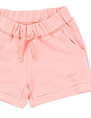 U.S. Polo Assn. Kids Girls Heathered French Terry Shorts
