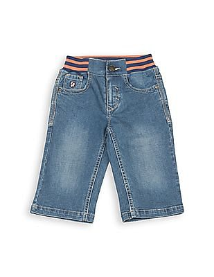 U.S. Polo Assn. Kids Boys Ribbed Waist Denim 3/4ths
