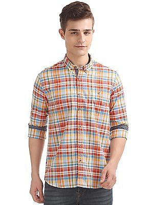 Cherokee Plaided Contemporary Fit Shirt