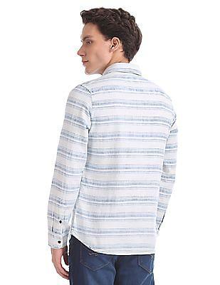 U.S. Polo Assn. Denim Co. Long Sleeve Horizontal Stripe Shirt