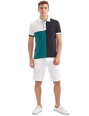 Nautica Short Sleeve Blocked Polo