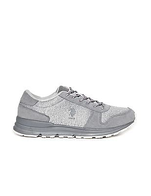 U.S. Polo Assn. Mid Top Panelled Sneakers