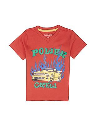 Cherokee Boys Printed Front T-Shirt