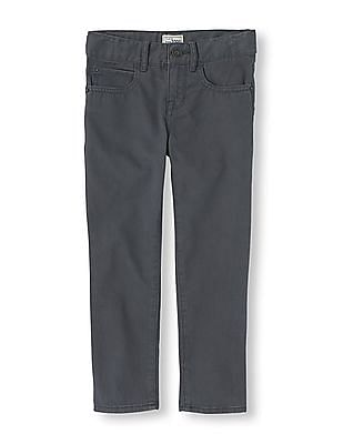 The Children's Place Boys Flat Front Solid Trousers