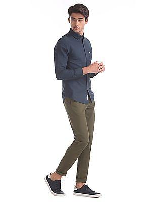 U.S. Polo Assn. Green Austin Trim Regular Fit Mid Rise Trousers