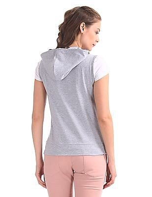 SUGR Mesh Front Hooded Sweatshirt