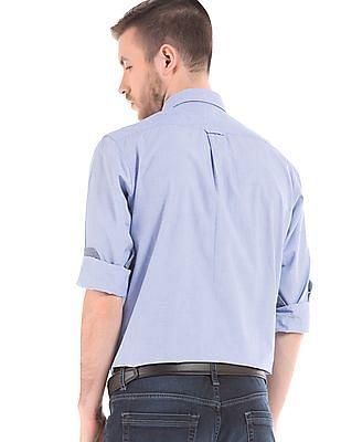 Nautica Solid Button Down Collar Shirt