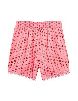 GAP Girls Print Pom Pom Dolphin Shorts