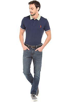 U.S. Polo Assn. Contrast Trim Pique Polo Shirt