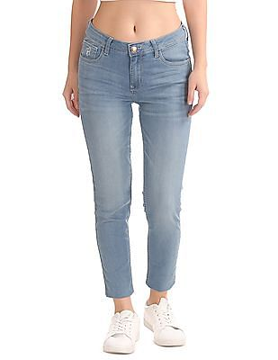 Flying Machine Women Super Skinny Fit Ankle Length Jeans