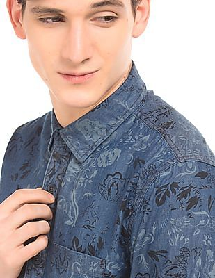 Cherokee Floral Print Shirt