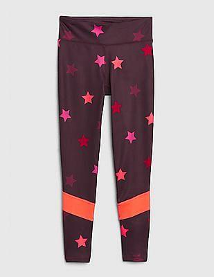 GAP Purple Girls GapFit Star Leggings