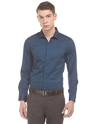 Elitus Printed Concealed Placket Shirt
