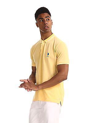 U.S. Polo Assn. Yellow Regular Fit Pique Polo Shirt