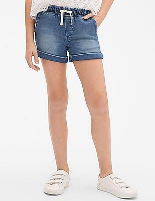 GAP Girls Washed Denim Shorts