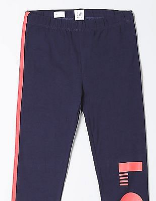 GAP Girls Contrast Panel Knit Leggings