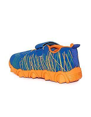 Unlimited Boys Velcro Tab Printed Sneakers