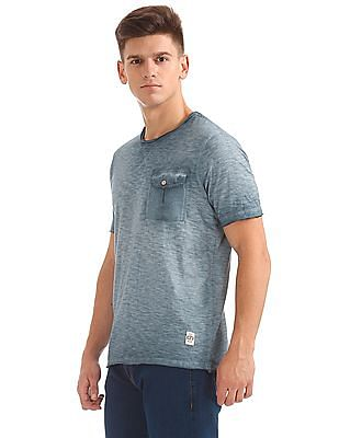 Cherokee Raw Edge Washed T-Shirt