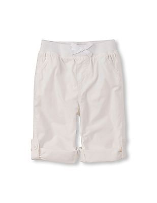 The Children's Place Toddler Girl Roll-Up Beach Pant
