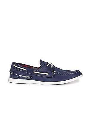 Aeropostale Contrast Sole Canvas Boat Shoes
