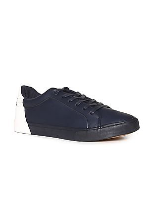Flying Machine Blue Round Toe Mid Top Sneakers