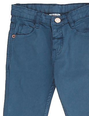 Donuts Boys Mid Rise Solid Jeans