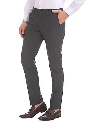 Excalibur Slim Fit Patterned Trousers