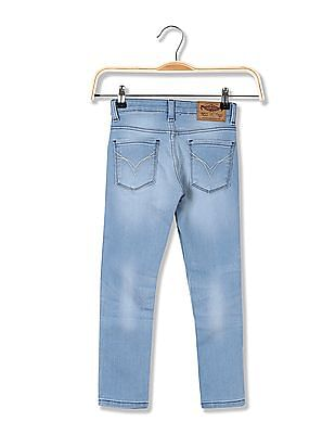 FM Boys Boys Skinny Fit Stone Washed Jeans