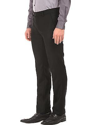 Arvind Super Crease Slim Fit Trousers