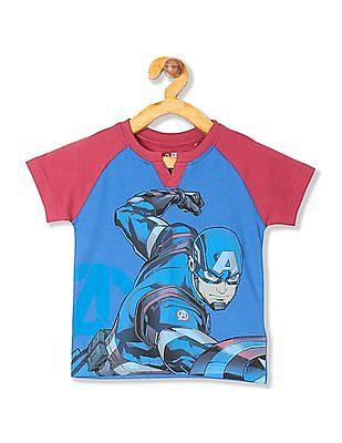 Colt Boys Action Man Print Notch Neck T-Shirt
