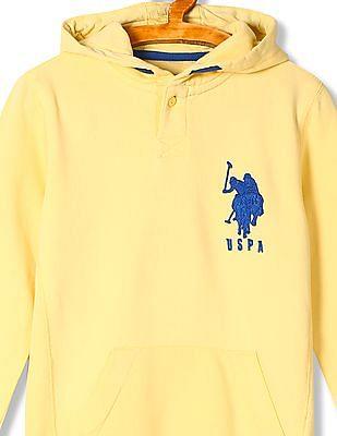 U.S. Polo Assn. Kids Boys Standard Fit Hooded Sweatshirt