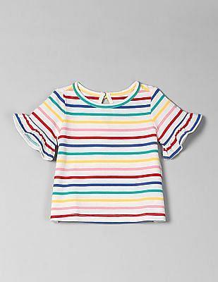 GAP Baby Print Ruffle T-Shirt