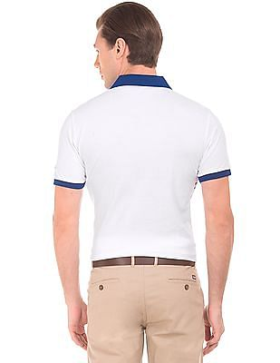 Arrow Sports Printed Pique Polo Shirt