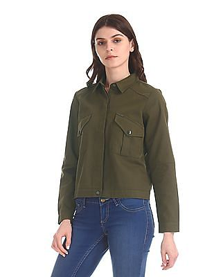Flying Machine Women Long Sleeve Twill Jacket