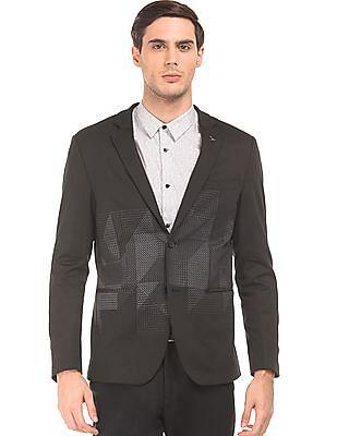 Arrow Newyork Printed Slim Fit Blazer