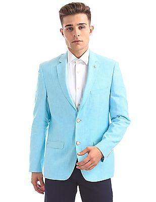 Arrow Regular Fit Linen Cotton Blazer