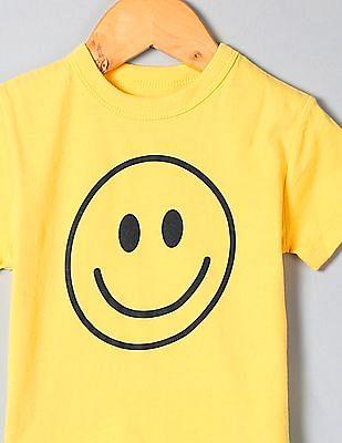 GAP Boys Yellow Short Sleeve Graphic T-Shirt
