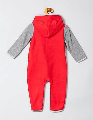 GAP Baby Colour Blocked Fleece Jumpsuit
