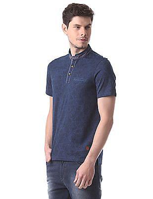 True Blue Slim Fit Paisley Print Polo Shirt