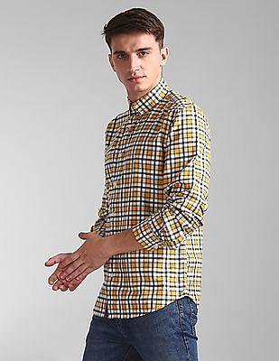 GAP Yellow Slim Fit Button Down Shirt