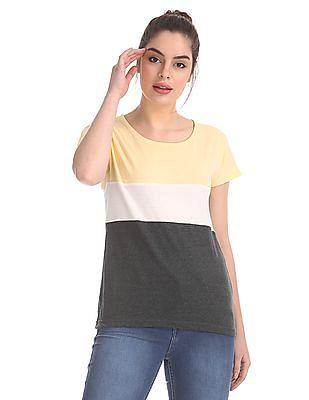 SUGR Colour Blocked Cotton Top