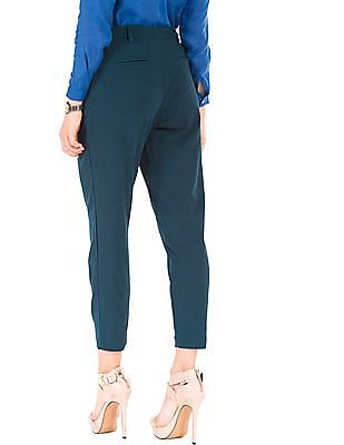 Arrow Woman Pleated Ankle Length Trousers