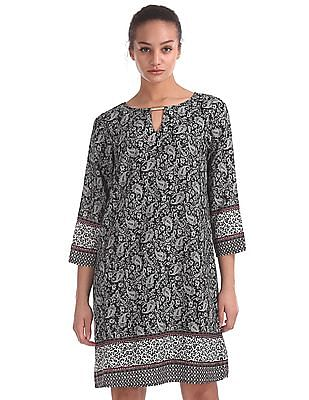 U.S. Polo Assn. Women Paisley Print Shift Dress
