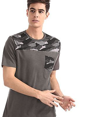 Cherokee Grey Patch Pocket Slub T-Shirt
