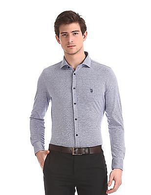 USPA Tailored Slim Fit Check Shirt