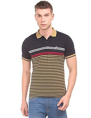 Ruggers Striped Pique Polo Shirt
